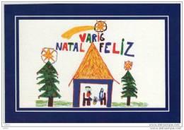 CARTE DE NOEL  -   VARIG  AIRLINES  -  VARIG  BRASIL    Illustré Par Des Enfants   (son Of Varig Employee) - Aviation Commerciale