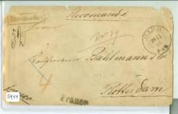 AANGETEKENDE R-BRIEFOMSLAG Uit 1865 Van FRANCO JüLICH PRUISEN Naar ROTTERDAM (5944) ACHTERZIJDE ROOD LAKZEGEL - Preussen (Prussia)