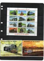 SIERRA LEONE,TRAINS, SHEETLET+2 S/SHEETS , MNH - Treinen