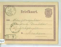 HANDGESCHREVEN BRIEFKAART Uit 1873 Uit UTRECHT Naar ARNHEM  (5945)  VOORDRUK 2 1/2 CENT - Postal Stationery