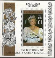 Falkland 1996 - 70e Ann Reine Elisabeth II - BF *** (MNH) - Falkland