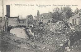 Hébuterne - La Grand'rue, En Face L'Eglise - Groupe De Maisons Démolies Février 1915 - Non Classés