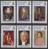 Falkland 2000 - Rois Et Reines D'Angleterre - 6v *** (MNH) Rare - Falkland