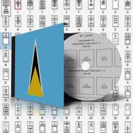 SAINT LUCIA STAMP ALBUM PAGES 1860-2011 (167 Pages) - Software