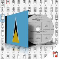SAINT LUCIA STAMP ALBUM PAGES 1860-2011 (167 Pages) - Logiciels