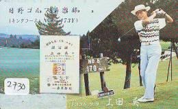 Télécarte Japon * TELEFONKARTE JAPAN * GOLF  * (2730) *  SPORT * PHONECARD * - Sport
