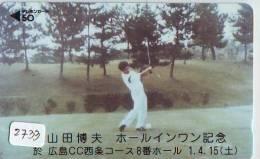 Télécarte Japon * TELEFONKARTE JAPAN * GOLF  * (2733) *  SPORT * PHONECARD * - Sport