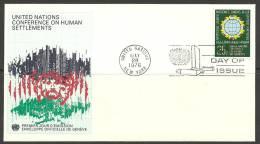United Nations New York  28.05.1976 FDC Naciones Unidas UN Human Settlements - Lettres & Documents