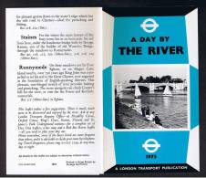 """RB 879 - 1975 London Transport 6 Page Folded Leaflet """"A Day By The River Thames"""" - Books, Magazines, Comics"""