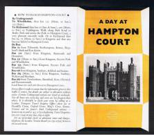 """RB 879 - 1972 London Transport 6 Page Folded Leaflet """"A Day At Hampton Court"""" Middlesex - Books, Magazines, Comics"""