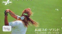 Télécarte Japon * TELEFONKARTE JAPAN * GOLF  * (2738) *  SPORT * PHONECARD * FEMME - Sport
