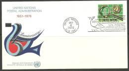 United Nations New York  08.10.1976 FDC Naciones Unidas UN Postal Administration - Lettres & Documents