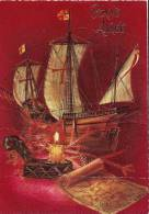 Caravelle    Bougie  Et Carte - Warships