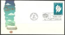 United Nations New York  27.06.1977 FDC Naciones Unidas UN Air Mail Flugpost - Lettres & Documents