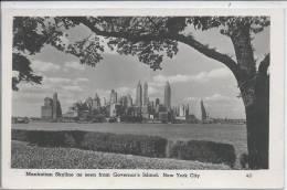 ETATS-UNIS  -- Manhatan Skyline As Seen From Governor's Island - New York City - United States