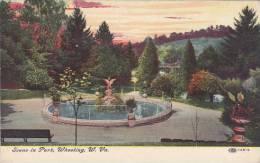 West Virginia Wheeling Scene In Park 1909