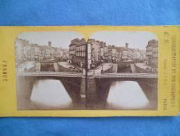 Photo Stereoscopique - LE CANAL A NANTES - Stereoscopic