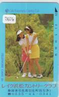 Télécarte Japon * TELEFONKARTE JAPAN * GOLF  * (2806) *  SPORT * PHONECARD *  LAKE HAMAMATSU - Sport