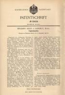 Original Patentschrift - B. Adler In Randegg , Baden , 1897 , Teigknetmaschine , Bäckerei !!! - Máquinas