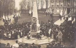 27 BOURGTHEROULDE 1900 ? INAUGURATION MONUMENT 4 01 1871 GROS PLAN ANIME PHOTO CARTE TBE - Bourgtheroulde