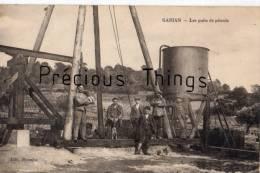 GABIAN   HERAULT   LES PUITS DE PETROLE  CARTE ANIMEE EN 1925 - Zonder Classificatie