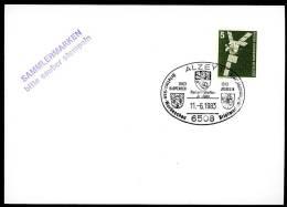 85239) BRD - Sonder ◙ Beleg - 6508 Alzey Vom 11.6.83 - Briefmarkenwerbeschau Wappen - Marcofilia - EMA ( Maquina De Huellas A Franquear)