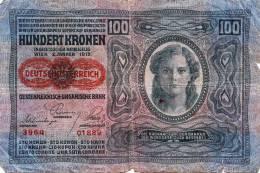 100 Kronen 1912 Banknote Deutschösterreich Österr.-Ungarische Bank - Oesterreich
