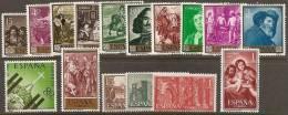 1959-ESPAÑA AÑO COMPLETO NUEVO SIN FIJASELLOS - Espagne