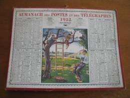 Calendrier Almanach Des Postes Et Télégraphes PTT 1932 Facteur Cadeau Anniversaire - Calendriers