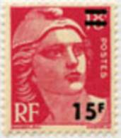 968 - Marianne De Gandon 15f Sur 18f Carmin - Francia