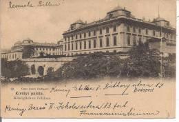 HUNGARY - BUDAPEST - KIRALYI PALOTA, Postcard, WHITE BLACK, FOR ITALY Used, - Hungary