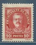 MONACO , 90 C , Prince Louis II , 1933 - 1937 , N° YT 117 , NEUF ** - Unused Stamps