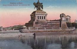 Germany Koblenz Kaiser Wilhelm Denkmal am deutschen Eck