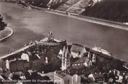 Germany Koblenz Mit Deutschem Eck Flugzeugaufnahme 1956