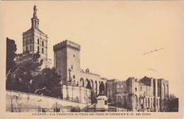 France Avignon Vue d'ensemble du Palais des apes et Cathedrale N