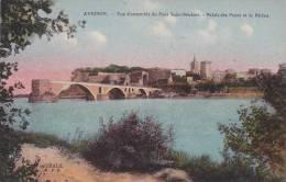 France Avignon Vue d'ensemble du Pont Saint Benezet
