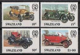 SWAZILAND - 1985 - Voitures Classiques - 4v Neufs - Swaziland (1968-...)