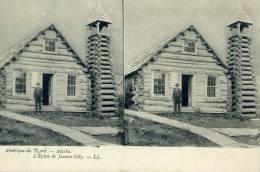 AMERIQUE DU NORD : ALASKA : L'églis De Juneau City  Carte Stéréotype - Postcards