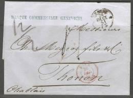 Lettre De Suisse 1861 - Suisse