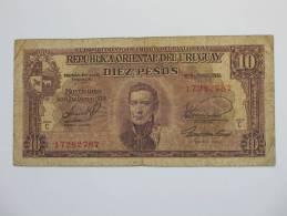 10 -Diez- Pesos 1939 URUGUAY - Republica Oriental Del Uruguay. - Uruguay