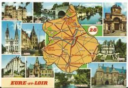 Eure Et Loire  :  Carte  :  Dreux, Nogent .., Bonneval , Etc... - Unclassified