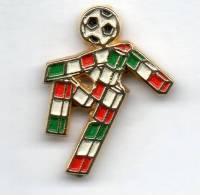 Pq1 Ciao Italia 90 Mondiali Calcio Pins Italy Insignes De Football Badges Insignias De FÚtbol Fußball-Abzeichen - Calcio