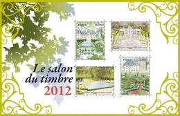 France Bloc 2012 Salon Du Timbre Jardin Château Castlegarden ** NF-05 - Mint/Hinged