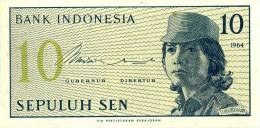 Indonesien 10 Sen 1964 P 92a Unc - Indonesien