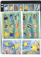 MALDIVES,FISH, 7v+ 2 SHEETLETS+ 2  S/SHEETS, MNH - Vissen