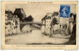 77-La FERTE-sous-JOUARRE-Le Pont à Dos D´ane,le Chateau Et Les Vieilles Maisons,,,en 1814 - La Ferte Sous Jouarre