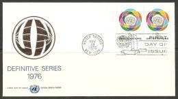 United Nations New York  19.11.1976 FDC Naciones Unidas UN - Lettres & Documents