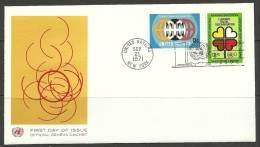 United Nations New York  21.09.1971 FDC Naciones Unidas UN Racial Discrimination - Lettres & Documents
