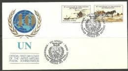 United Nations Genf 26.06.1985 FDC Naciones Unidas UN Official First Day Cover UN 40. Anniversary - Office De Genève