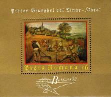 Gemälde Sommer Von Maler Pieter Bruegel Rumänien Block 96 ** 6€ EXPO Belgica 1972 Bf Bloc Philatelic Sheet Of Romania - 1948-.... Republics